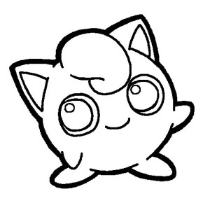 Pokemon Jigglypuff Coloring Page