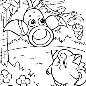 Pokemon Jigglypuff Is Surprised Coloring Page
