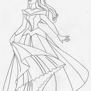 Princess Aurora Very Beautiful Picture Coloring Page
