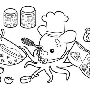 Professor Inkling Octopus Cooking Octopie In The Octonauts Coloring Page