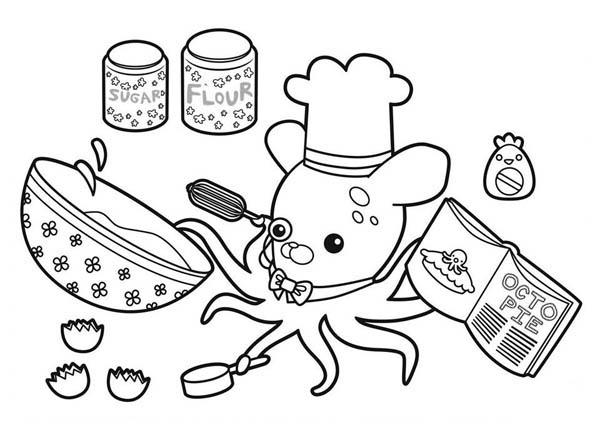 Professor Inkling Octopus Cooking Octopie In The Octonauts Coloring ...
