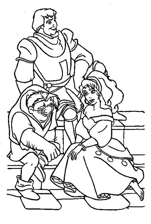 nice The Hunchback Of Notre Dame Esmeralda Style Coloring Page ... | 885x600