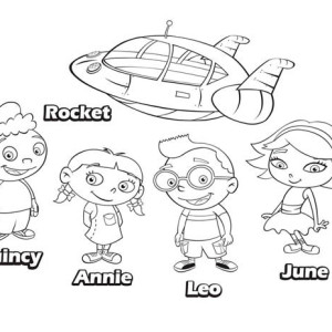 Quincy Leo Annie June And Rocket In Little Einsteins Coloring Page