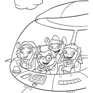 Quincy Leo Annie And June In Little Einsteins Rocket Coloring Page