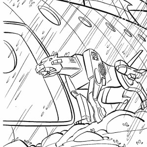 Ravage From Transformers Coloring Page