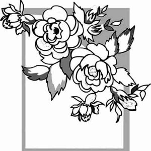 Rose Picture Frame Coloring Page
