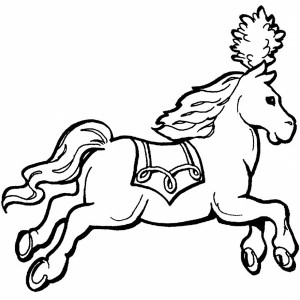 Royal Carriage Horse In Horses Coloring Page