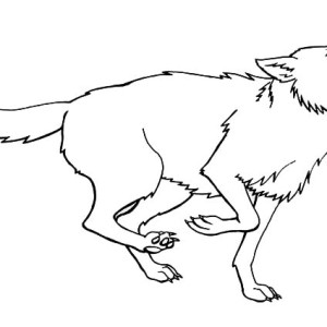 Running For Prey Wolf Coloring Page