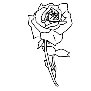 Say Your Word With Rose Coloring Page