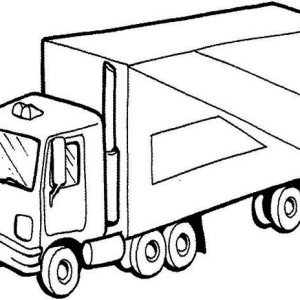 Semi Truck Picture Coloring Page