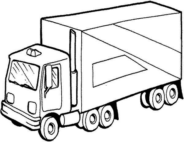 Semi Truck Picture Coloring Page - Download & Print Online ...