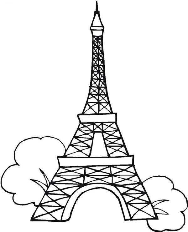 Seven Wonders Of The World Eiffel Tower Coloring Page ...