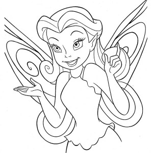 Silvermist From Disney Fairies Coloring Page