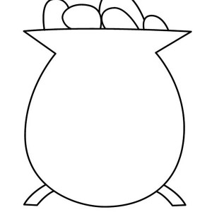 Simple Drawing Of Pot Of Gold Coloring Page