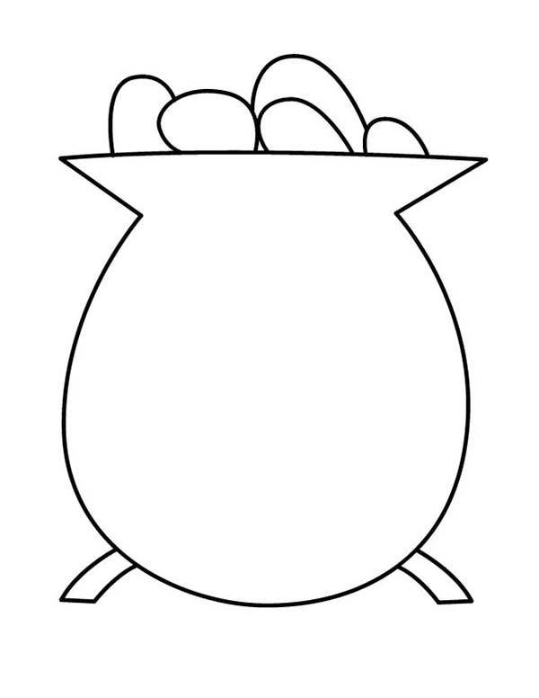 Simple Drawing Of Pot Of Gold Coloring Page Download Print