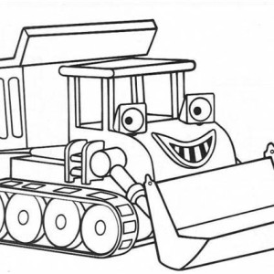 Smiling Scoop From Chuggington Coloring Page