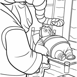 Soothsayer Taking Care Of Po In Kung Fu Panda Coloring Page