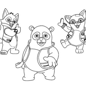 Special Agent Dotty And Special Agent Wolfie And Special Agent Oso Coloring Page