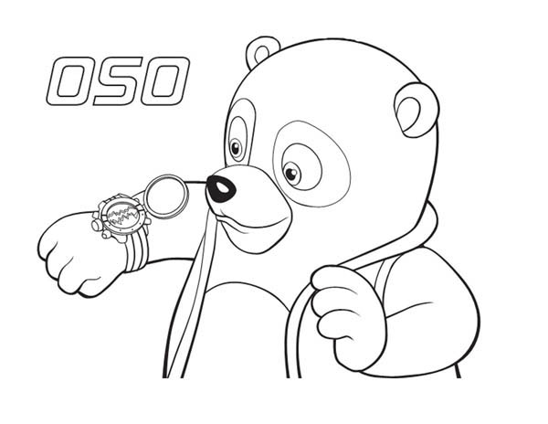 Special Agent Oso New Watch Coloring Page