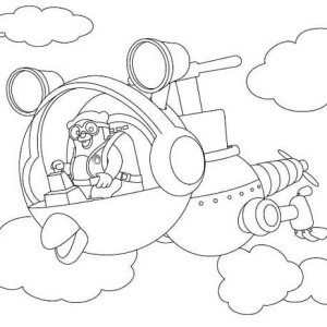 Special Agent Oso Riding Whirly Bird In Special Agent Oso Coloring Page