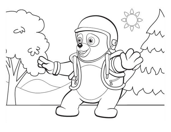 Running Agent Oso Coloring Pages - Get Coloring Pages | 464x600