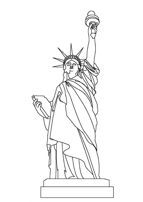 Statue Of Liberty Coloring Page Download Print Online