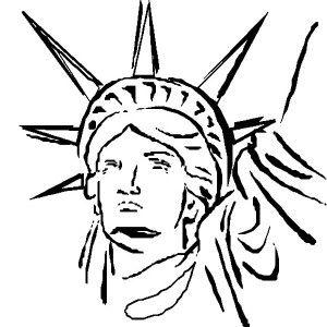 Statue Of Liberty Head Coloring Page