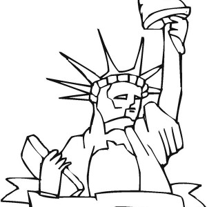 Statue Of Liberty The Proud Of America Coloring Page