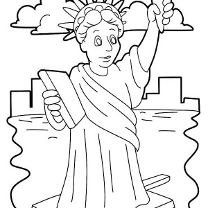 Stunning Statue Of Liberty Coloring Page