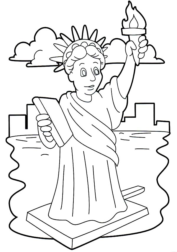 Stunning Statue Of Liberty Coloring Page - Download & Print Online Coloring  Pages For Free Color Nimbus