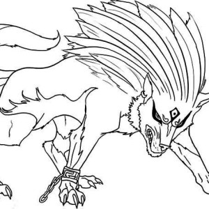 Super Wolf Coloring Page