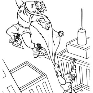 Syndrome Want To Escape In The Incredibles Coloring Page