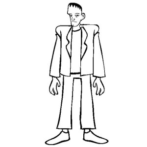 Tall Frankenstein Coloring Page