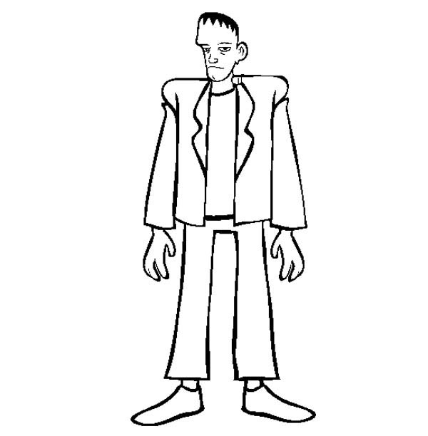 Tall Frankenstein Coloring Page - Download & Print Online ...