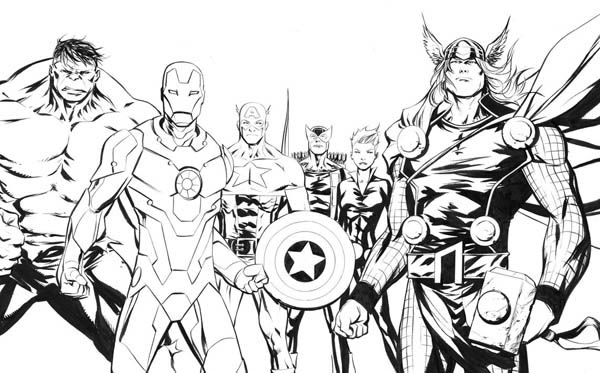 The Amazing Avengers Picture Coloring Page Download Print Online