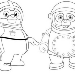 The Amazing Special Agent Oso Coloring Page