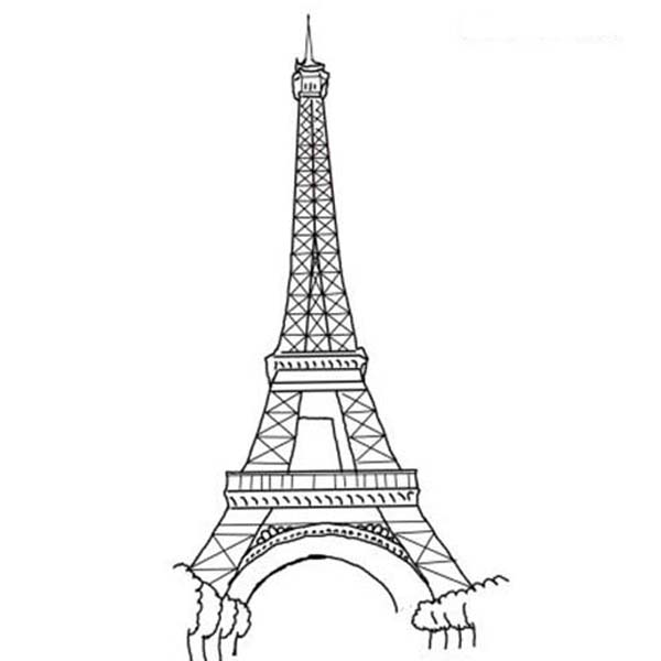 The Amazing Of Eiffel Tower Coloring Page - Download ...