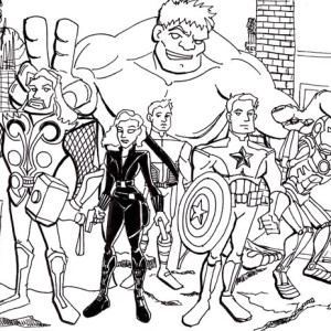 The Avengers Assemble Coloring Page
