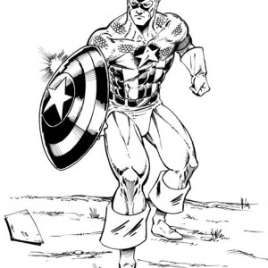 The Avengers Character Captain America Coloring Page