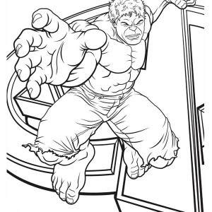 The Avengers Character Hulk Coloring Page