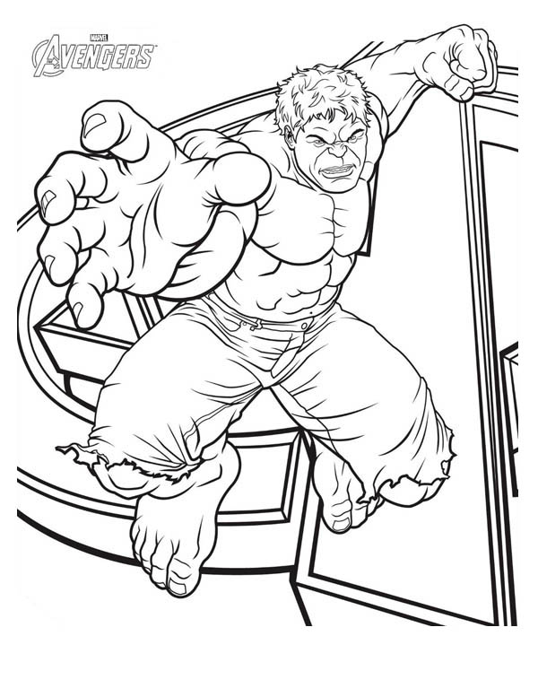 The Avengers Character Hulk Coloring Page Download Print Online