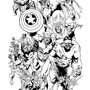 The Avengers Coloring Page