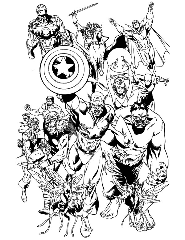 The Avengers Coloring Page Download