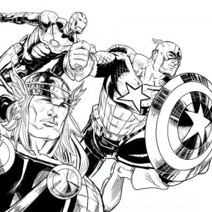 The Avengers Finest Attack Coloring Page