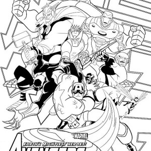 The Avengers Poster Coloring Page