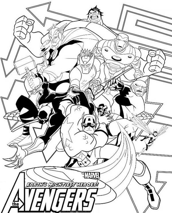 The Avengers Poster Coloring Page - Download