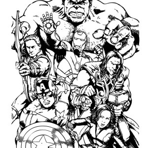 The Avengers Team Assemble Coloring Page