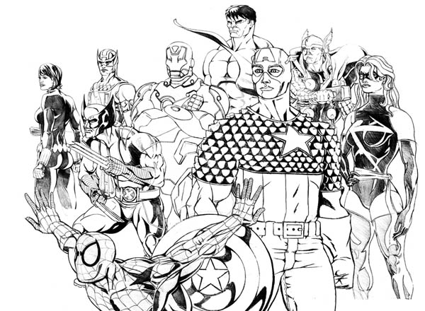Young Justice Kleurplaat The Avengers And Wolverine Coloring Page Download