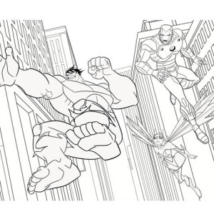 The Awesome Avengers Picture Coloring Page