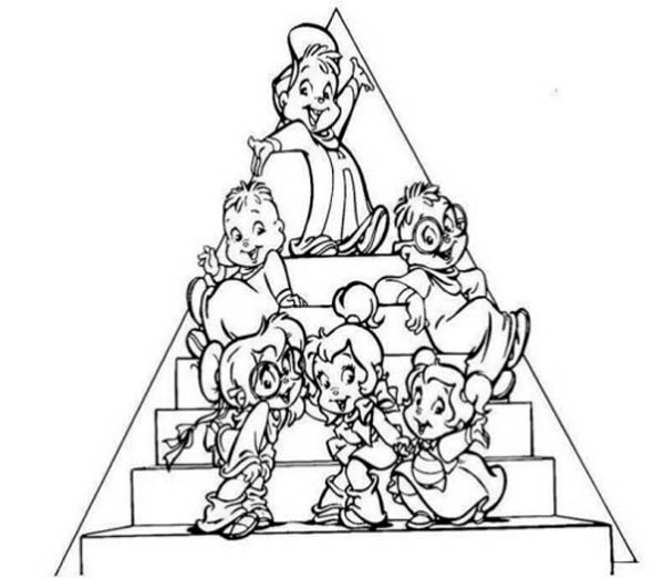 chipmunks coloring pages with flags - photo#32